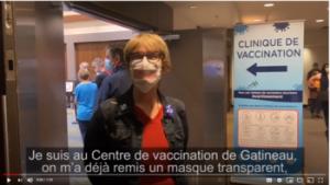 Jeanne Choquette - Vaccination à Gatineau